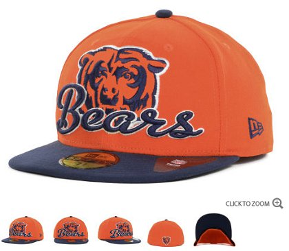 Chicago Bears New Era Script Down 59FIFTY Hat 60d06